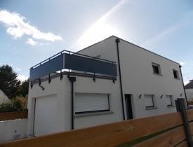 Maison en toit terrasse